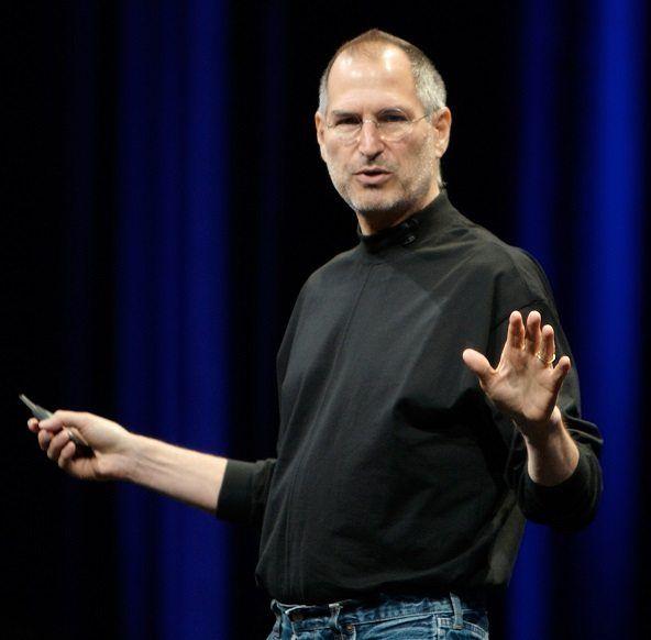 Steve Jobs, cofundador de Apple, durante una conferencia