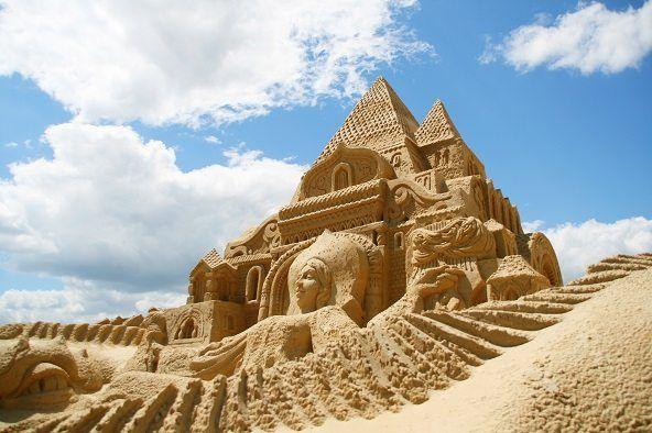 esculturas de arena