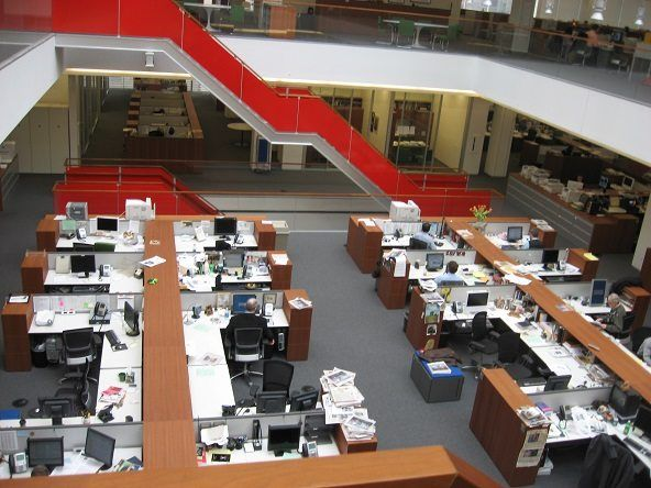 Sala de redacción de The New York Times