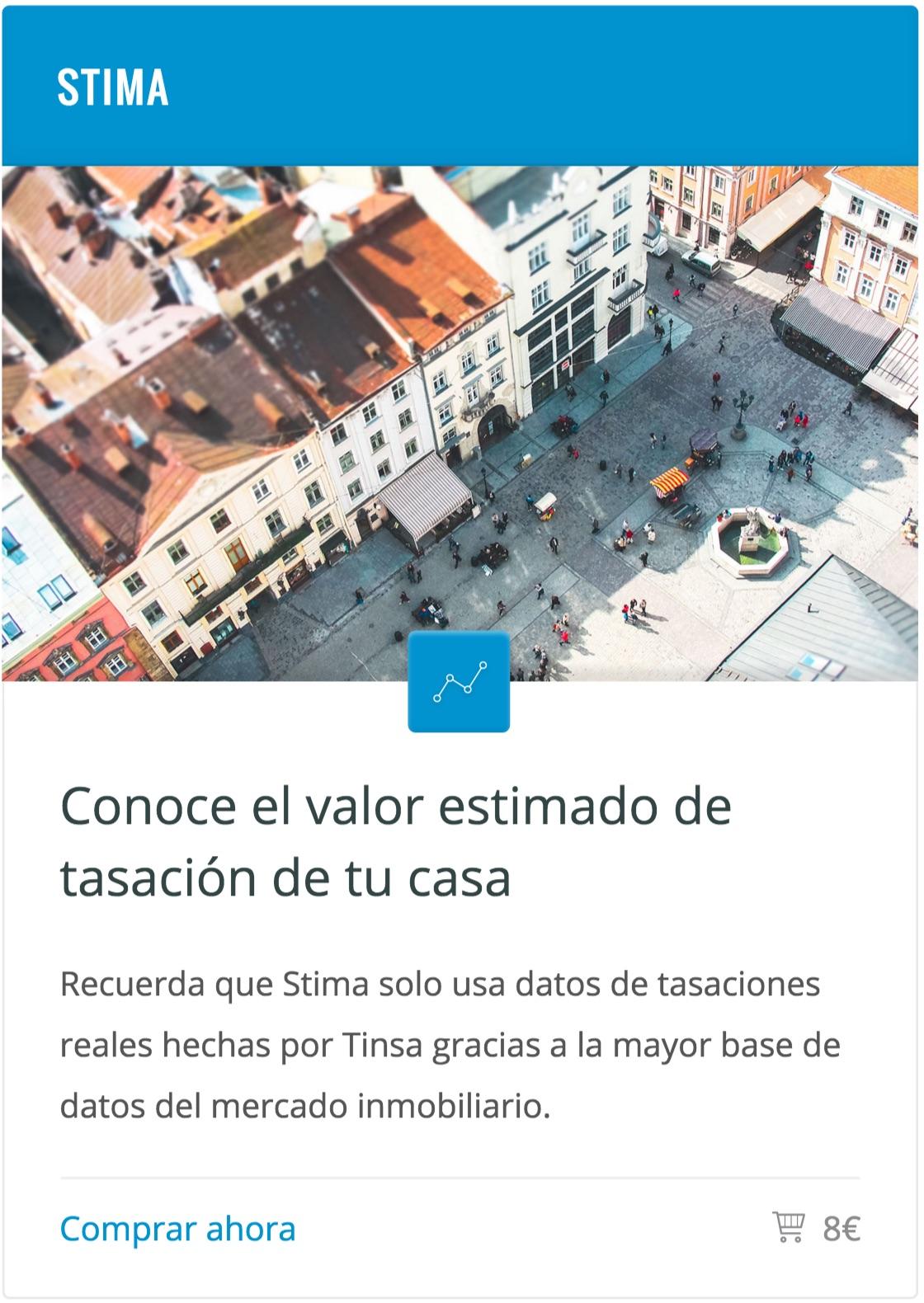 Tasación online viviendas Stima